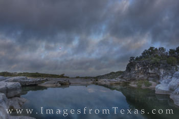 new moon, blood moon, super moon, pedernales, texas hill country, moon, river, morning, sunrise, moonset, pedernales falls, texas parks, state parks, tpw, water
