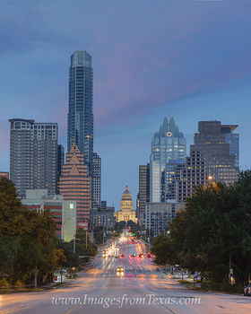 Texas Capitol from Congress November 2