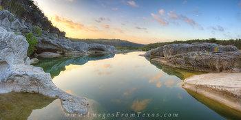 Texas Landscapes - Pedernales Falls Sunr