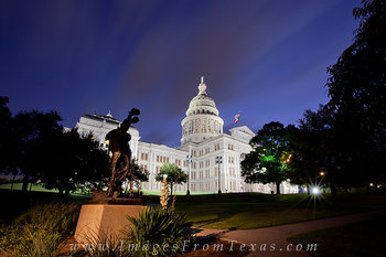 Texas State Capitol and a Texas Cowboy