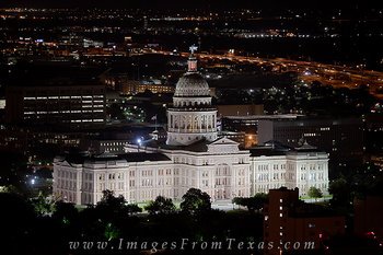 Texas State Capitol at Night - Austin