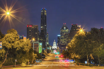 Texas State Capitol,Austin Texas skyline,Congress Avenue,Austin Texas images,Austin Texas prints