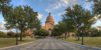 Texas State Capitol on an Autumn Morning
