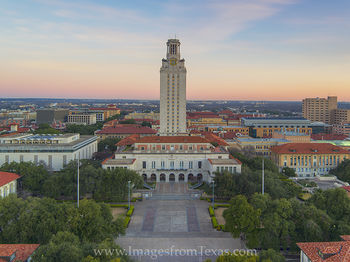 Texas Tower Aerial from South Mall 1