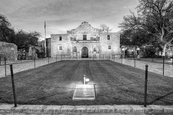 texas,black and white,alamo,prints,san antonio
