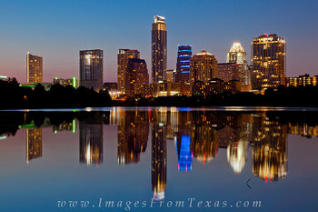 austin texas cityscape,lady bird lake,reflections,austin texas