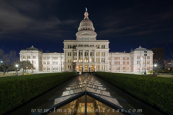 The Texas State Capitol before Sunrise