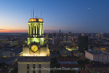 Texas Tower,Downtown Austin,UT Tower,University of Texas campus,austin skyline,austin sunrise,aerial photography,austin aerial