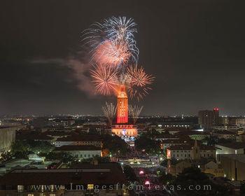 UT Tower, UT Graduation, 2016 Graduation, Texas graduation, University of Texas Graduation, fireworks, UT fireworks