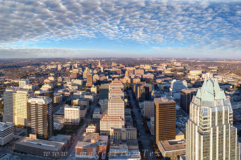 Texas State Capitol,Austin Texas from Austonian,Austin Texas prints,Frost Tower