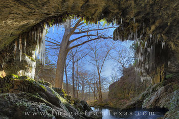 texas hill country, westcave preserve, hamilton pool, texas ice storm, texas freeze, images, texas snow, snow in texas