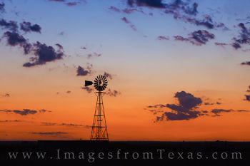 windmill, palo duro, canyon, amarillo, sunrise, orange, blue, morning, pre-dawn, west texas