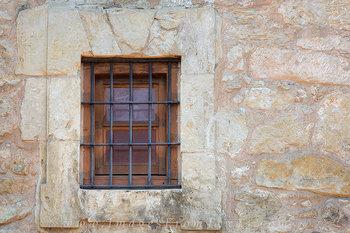 Window at the Alamo, San Antonio