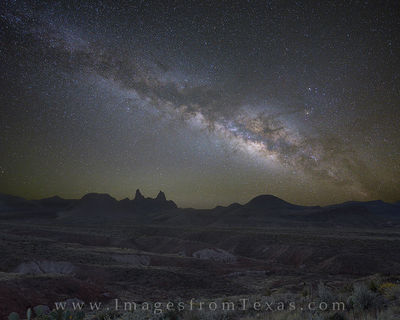 Bluebonnets and the Milky Way at The Big Bend