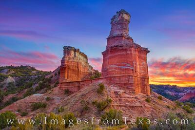 November Sunset at the Lighthouse - Palo Duro 1124-1