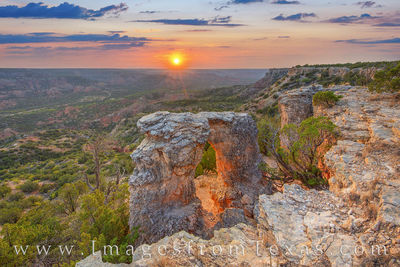 The Alter of Palo Duro at Sunset 11-1
