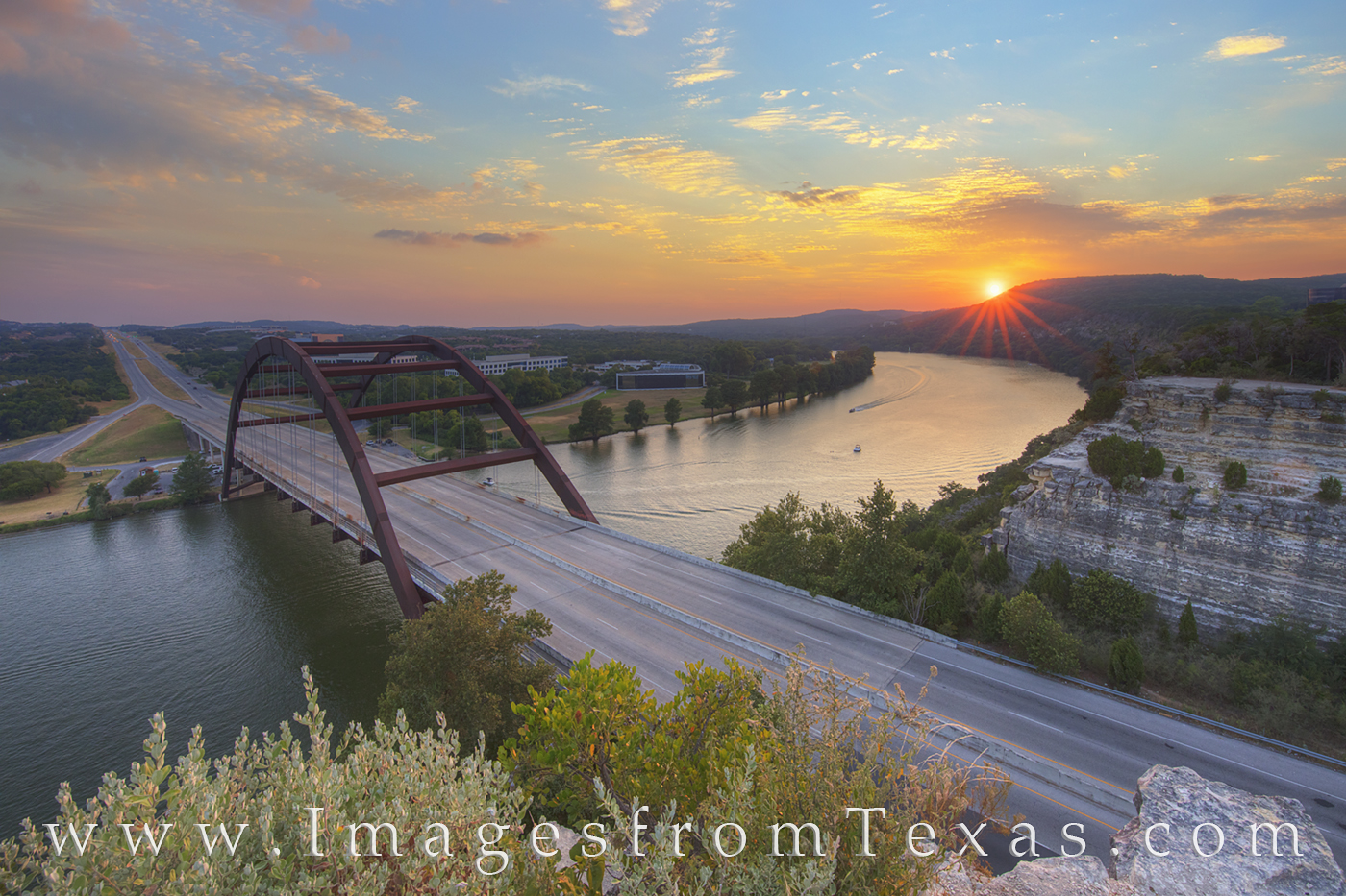 360 Bridge, Pennybacker Bridge, 360, austin, sunset, hill country, capitol of texas highway, colorado river, austin texas, photo