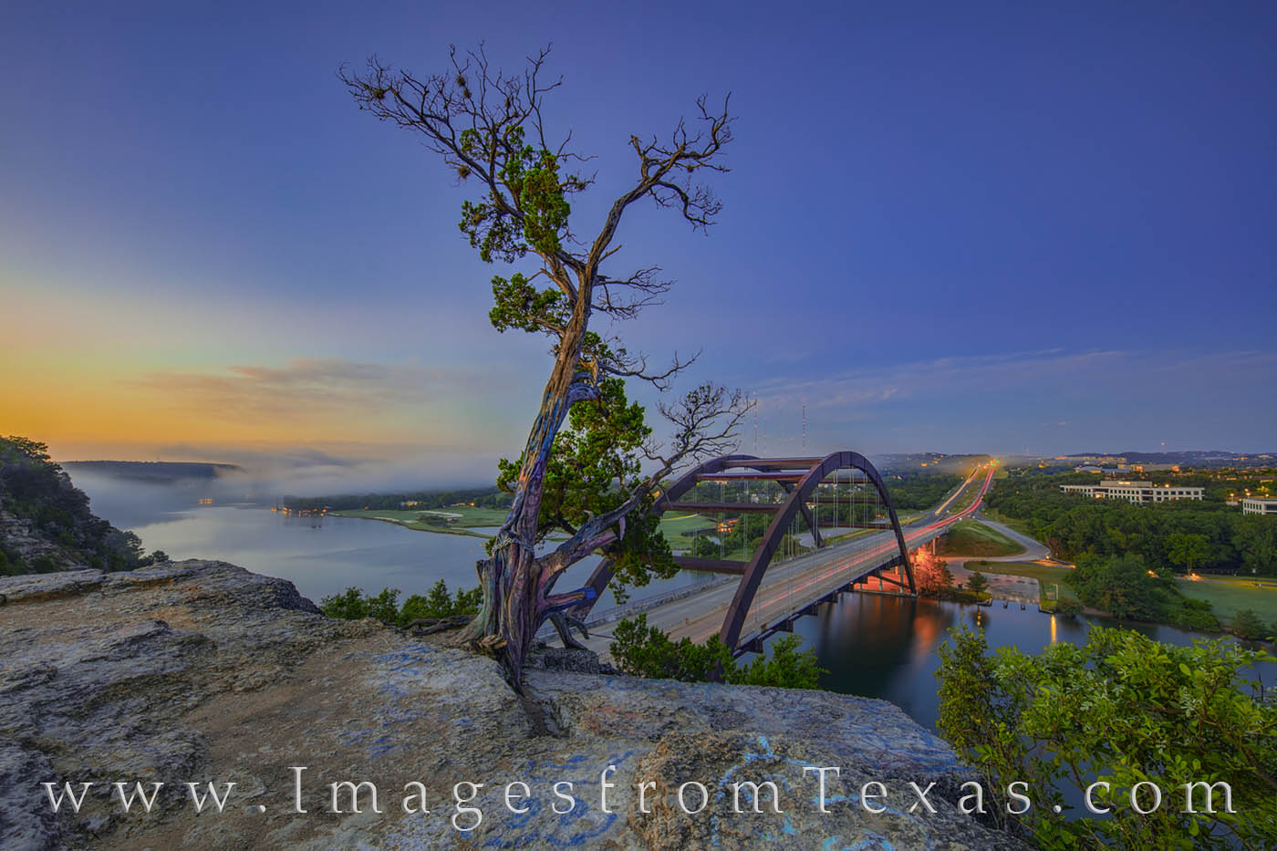 A storm had blown through Austin the night before, and on this morning in Austin, Texas, fog hung low over the Colorado River...