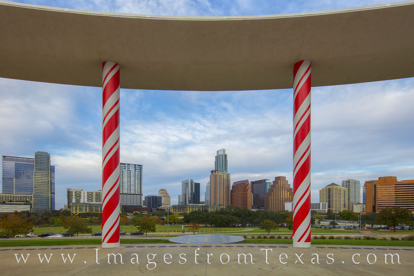 Austin Christmas, Long Center Christmas, candy canes, long center, austin skyline, downtown austin, zilker park, austin texas, photo
