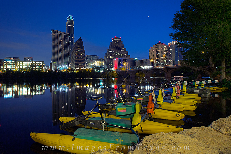 I arrived early at Zilker Park to walk the Hike and Bike Trail and photograph the Austin skyline. This view of downtown comes...