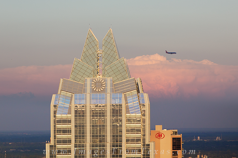 austin skyline,frost tower,southwest airlines,austin texas images, photo