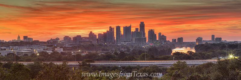 austin panorama,austin skyline pano,austin skyline image,austin skyline prints,downtown austin pano,austin sunrise, photo