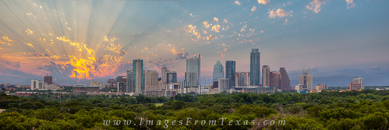 Downtown Austin Panorama,Austin Skyline Pano,Austin skyline prints,Austin stock photos,Austin sunrise, photo