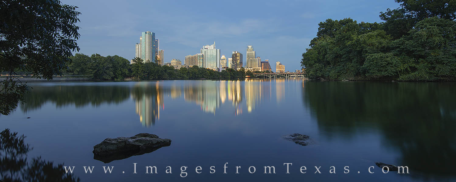 austin skyline, austin panorama, lady bird lake, downtown austin, austin images, austin prints, zilker park, lou neff point, photo