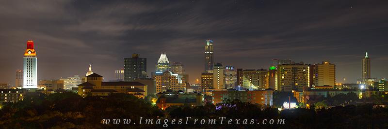 austin pano,austin skyline panorama,austin texas panorama,UT Tower, photo