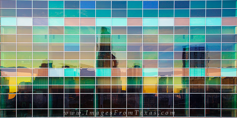austin skyline reflection,downtown austin,austin texas, photo