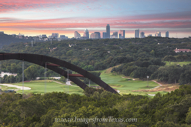 From a vantage point above Pennybacker Bridge, also known as the 360 Bridge to locals, you can take in the distant views of the...