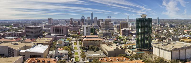 austin skyline,austin panorama,austin texas skyline,austin cityscape,pano, photo
