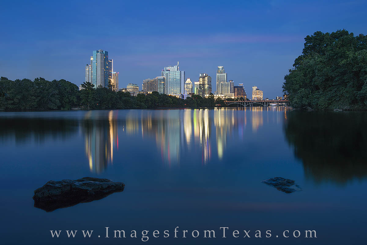 austin skyline, austin photos, austin skyline prints, zilker park, lou neff point, lady bird lake, austin at night, downtown austin, austin texas, photo