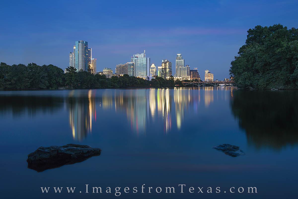 austin skyline, austin photos, austin skyline prints, zilker park, lou neff point, lady bird lake, austin at night, downtown austin, austin texas, photo