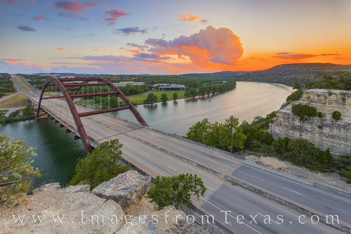 360 bridge, pennybacker, austin texas, atx, austin icons, colorado river, evening, summer, austin summer, photo