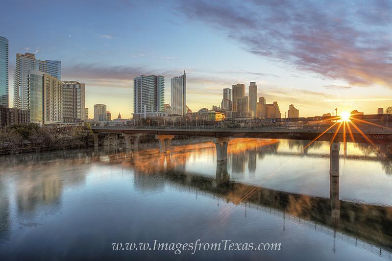 austin texas images,austin skyline photos,pfluger bridge,austin sunrise,lady bird lake,town lake,austin high rises,austin texas, photo