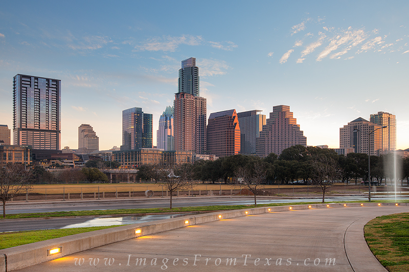 austin texas, austin skyilne, long center, downtown austin, photo