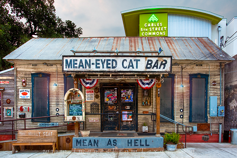 Contrasting Old Austin and New Austin, this relic and icon of the old days, the Mean-Eyed Cat Bar, resides on 5th Street nestled...