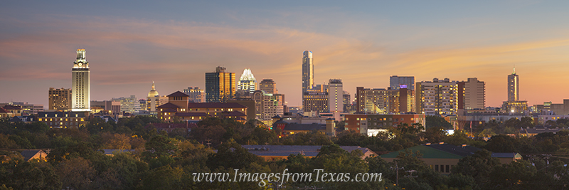 austin skyline,downtown austin,austin images,austin texas images,austin panorama,austin texas pano,frost tower,UT Tower,Austonian, photo
