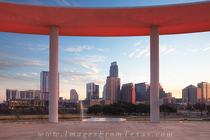 austin skyline,long center,austin highrises,austin texas, photo