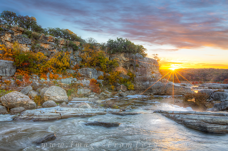 Autumn Color Sunrise Pedernales Falls 1
