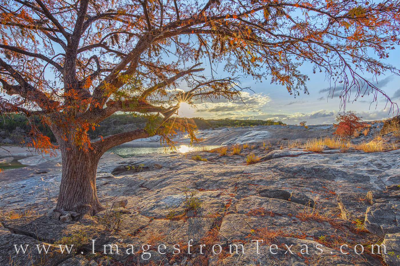 Autumn Sunset at Pedernales Falls 1122-1