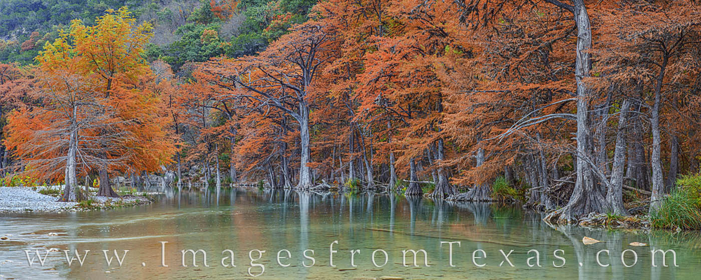 Autumn on the Frio River Panorama 1112-1
