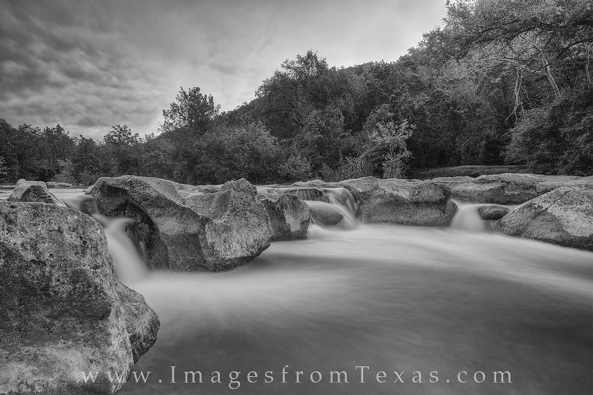 This black and white photograph comes from Austin, Texas, and the popular Barton Creek greenbelt. Taken about 20 minutes before...