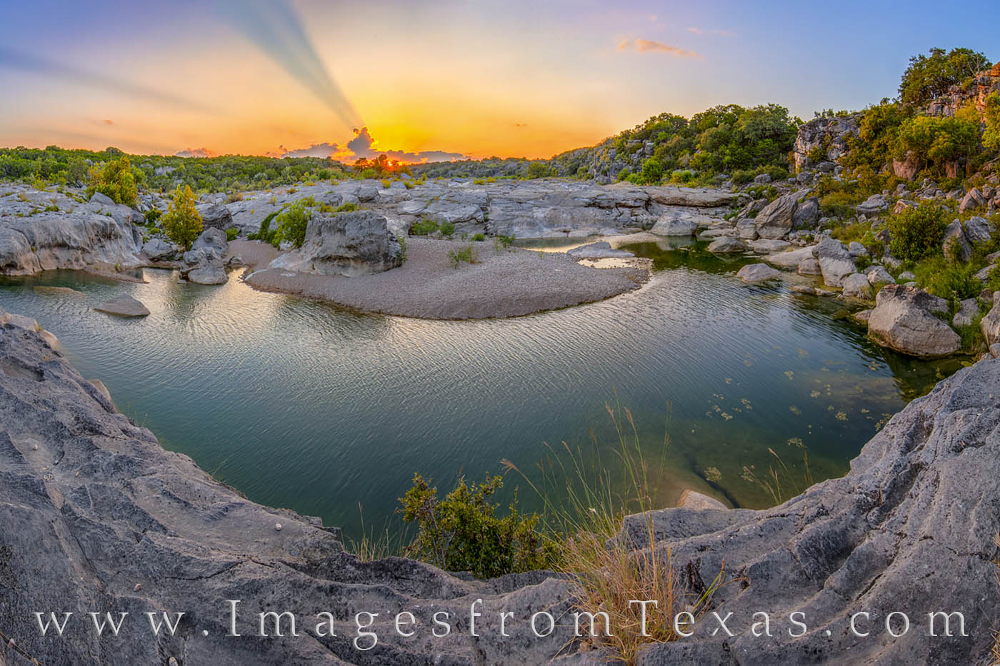 Bend in the River - Pedernales Falls Sunset 22