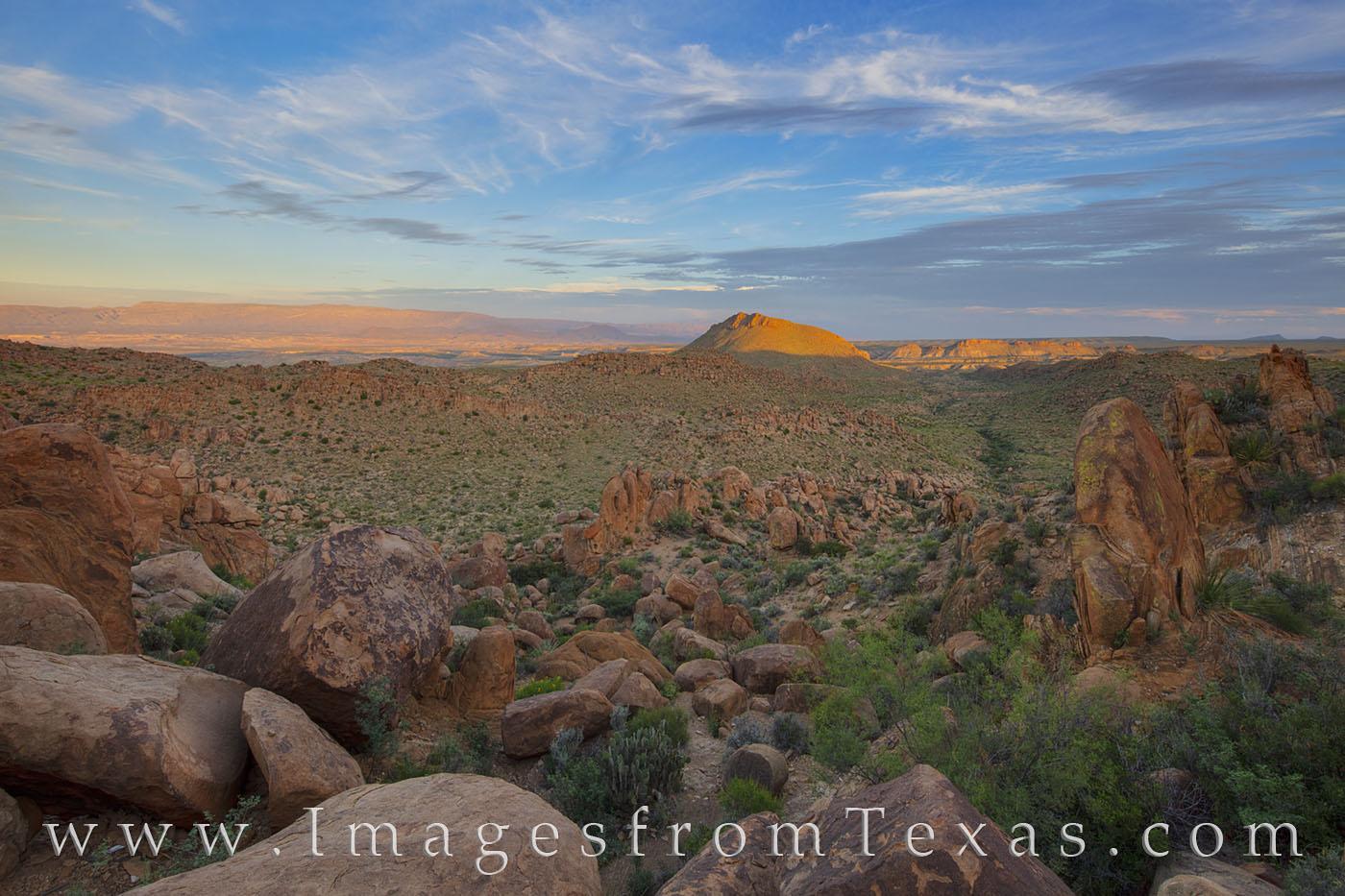 balanced rock, grapevine trail, big bend national park, big bend prints, landscape, chisos mountains, chihuahuan desert, photo