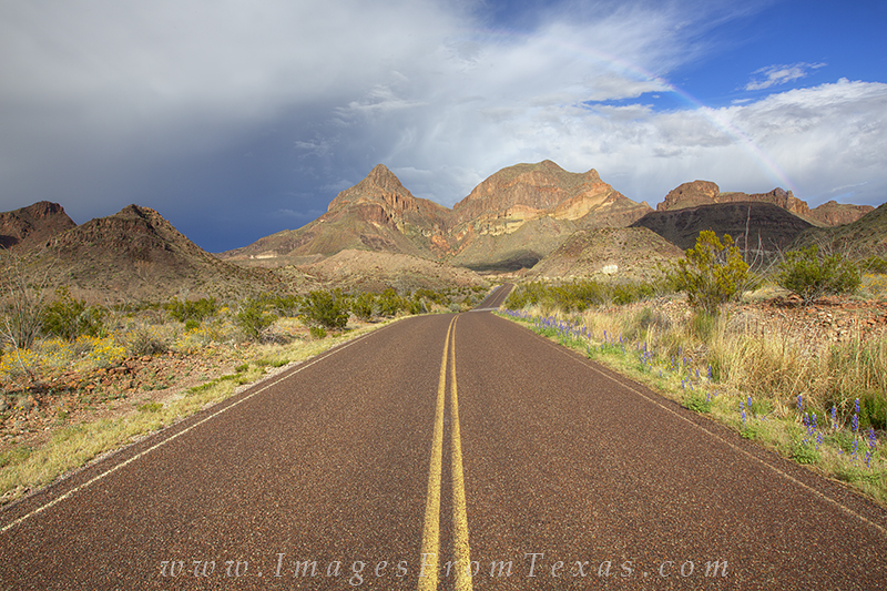 Big Bend,Big Bend roads,Chisos Mountains,Big Bend Rainbow,rainbow,texas landscape,big bend images, photo
