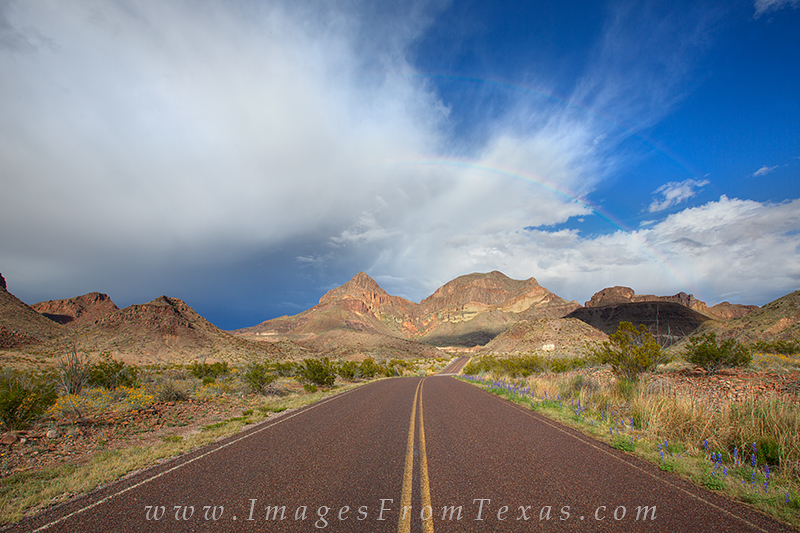 big bend prints,chisos mountains,big bend national park,rainbow,texas landscapes,texas, photo