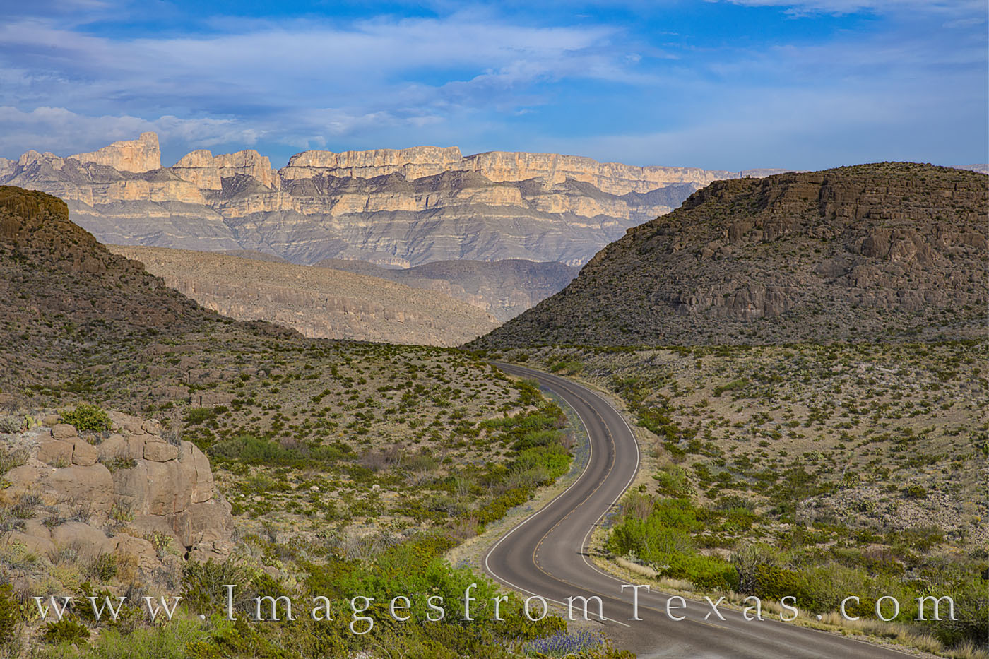 big bend national park, sierra del carmen, hwy 118, rio grande village, road, highway, curves, photo