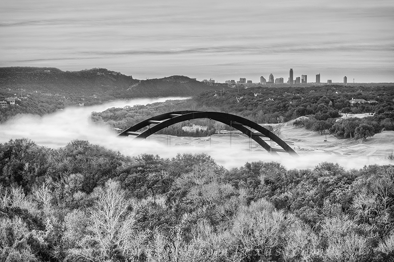 austin in black and white,360 Bridge,Pennybacker Bridge,Austin texas,black and white images, photo
